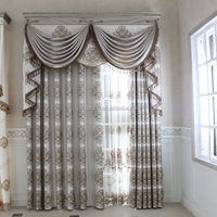 european style curtains with attached valance