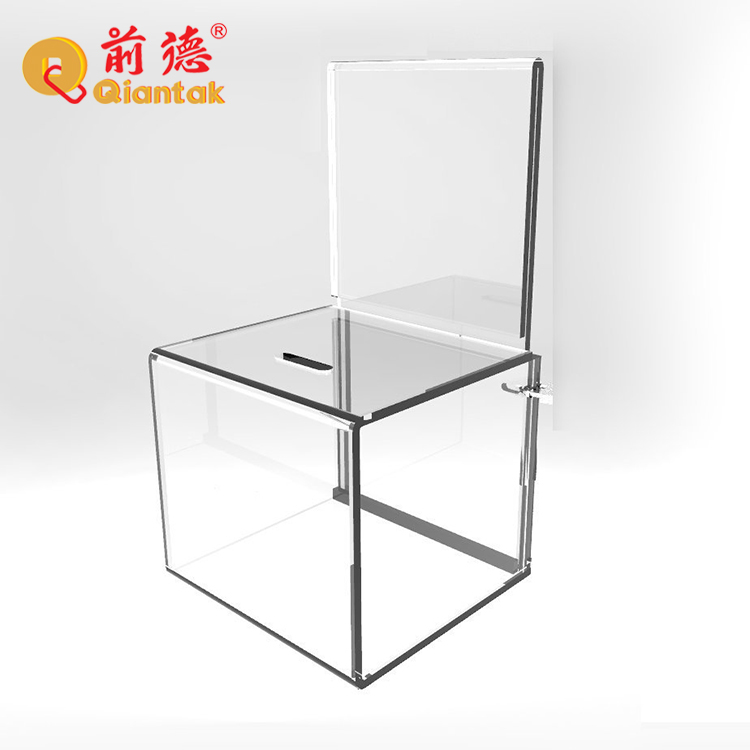 Wholesale clear plastic acrylic donation box