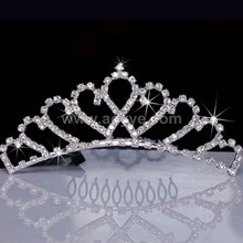 High quality fashion design crystal rhinestone bride crown beautiful wedding crown for women