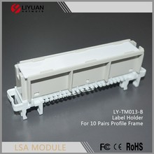 LY-TM013-B 10 pair profile Label holder for LSA IDC Disconnection module