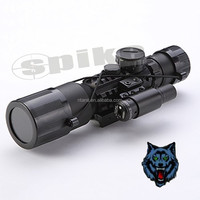 SPIKE 3-10X42E(M9)Optic Rifle Scope/ Red /Green illumination Rifle Scope with Red Laser/ Riflescopes Hunting