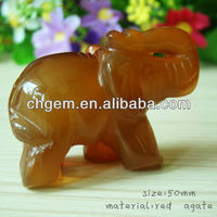 gemstone elephant carving red agate elephant statue