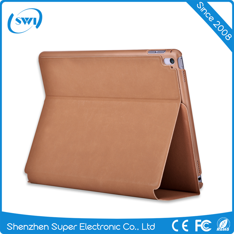 2017 Hot products Comma custom PU leather back cover for iPad Pro 9.7,full protective PU back cover for iPad Pro 9.7