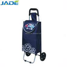 High quality folding shopping trolley bag with 2 wheels wholesale as seen tv