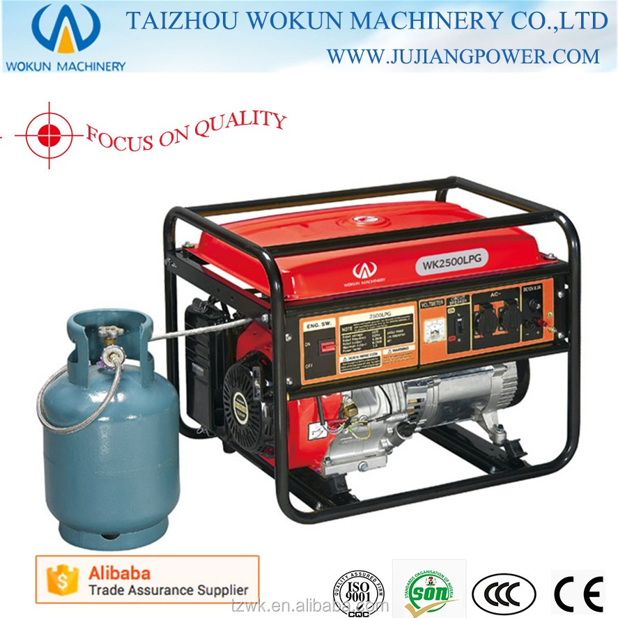 Good quality 2kw 220v 168f honda engine lpg natural gas for Small honda motors for sale