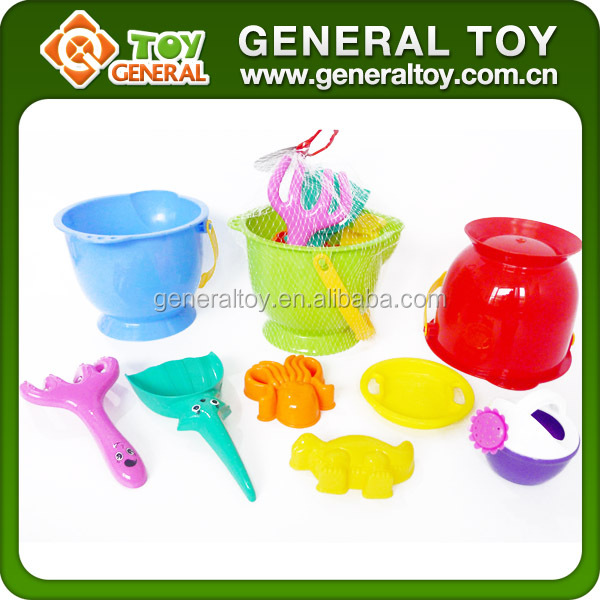 Outdoor Toys Sand Tool 7PCS Plastic Beach Buckets And Spades