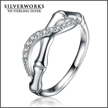 New Arrival 925 Sterling Silver New Model CZ Stone Ring