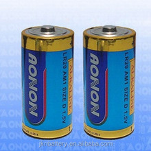 High Quality LR20 size D super dry battery