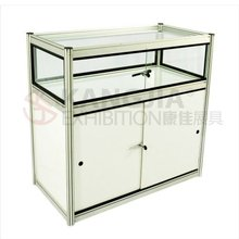 exhibition display counter with lock