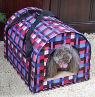Quality primacy attractive fashion warming houses dog carrier contemporary dog cage pet house