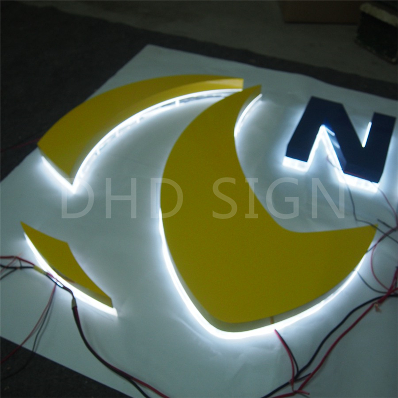 China manufacturer led backlit outdoor signage backlit hola letters with high quality