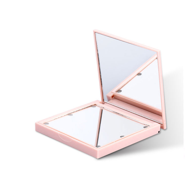 Travel Makeup Mirror Folding LED Lighted Vanity Makeup Mirrors