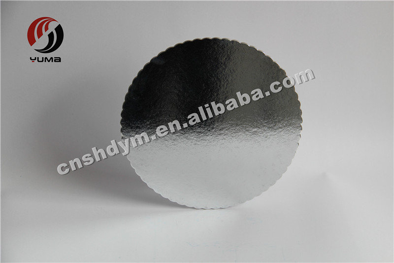 cardboard silver color plain waxed cake circles