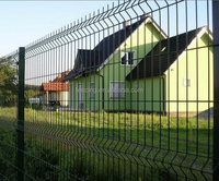 Combine Security and Beautiful 3D Curved Wire Mesh Fence Panel for Villa Confine (factory since 1989)