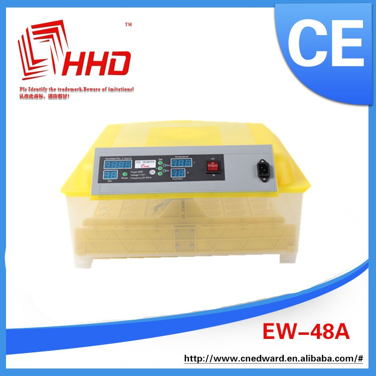 HHD 48 Eggs Automatic Poultry Incubator Machine For Sale CE FCC