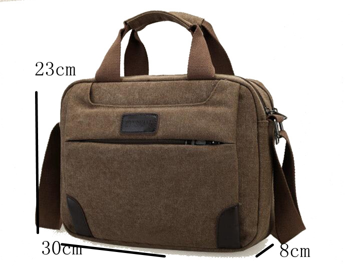 High quality mens briefcase canvas shoulder laptop messenger bag