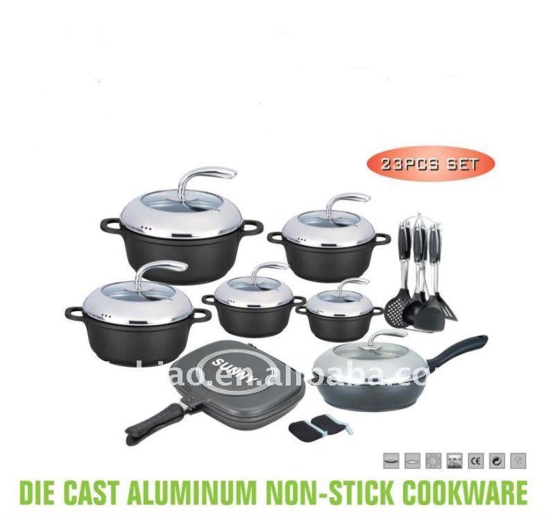 Die-cast aluminum cookware set