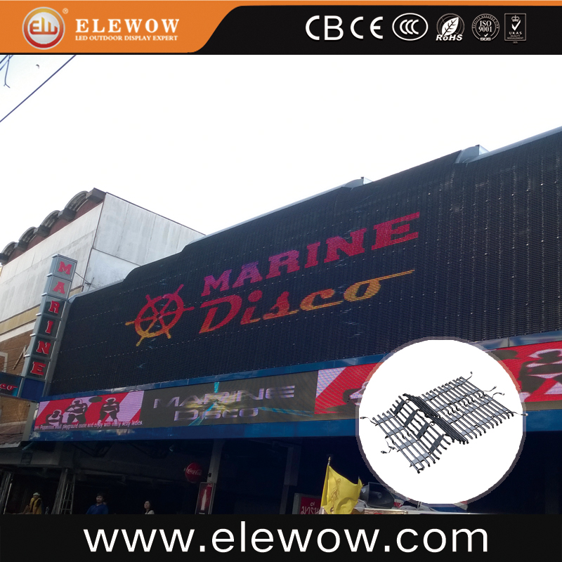 P37.5 roll up led video screens flexible led curtain display