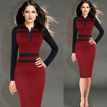 DD205 Office Ladies Bodycon Dress Woman Work Wear Dress