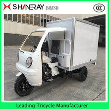 3 wheel motor trikre cargo tricycle with a cabin china supplier