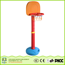 Bairun Hot Sale Kids Outdoor Height Adjustable Outdoor Basketball Stands With Pole And Backboard