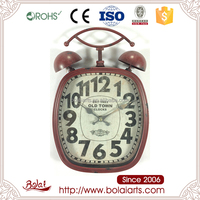 Old Town square design classic red black numbers quartz wall clock for flower shop