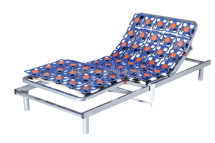 high-end series comfort plastic flower design electric adjustable metal bed frame DJ-PW29