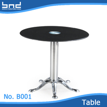 Fashion dining room furniture round design glass dining table