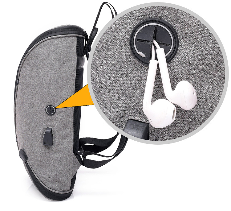 Легкий открытый доказательство воды полиэстер складной ноутбук сумки рюкзаки с портом usb зарядка