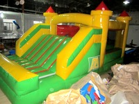 Small Custome Inflatable Slide with Bouncy Castle for Kids