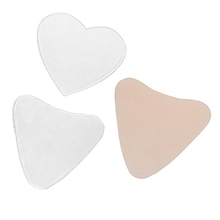 Transparent Heart shape High Quality Chest Wrinkle Prevention Decollete Silicone Pads Reusable silicone Decollette Pad