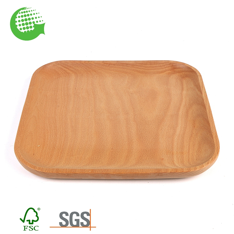 Custom Hot Sale Restaurant Rectangular Wooden Cover Serving Tray Wholesale And Platter