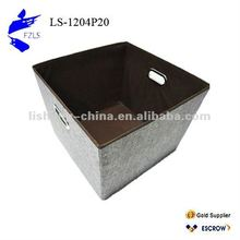 Polyester Ramie Storage Box with Mental Handle