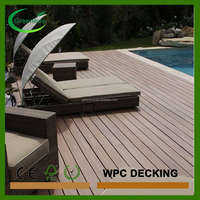 New tech wood plastic composite popular deck board
