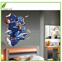 3D wall sticker basketball for room decor
