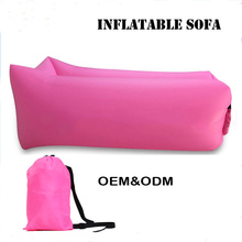 WENZHOU factory selling cheapest price outdoor beach using 210D nylon inflatable lounger, portable sofa bed