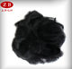 1.5D*51mm recycling PSF polyester staple fiber in black buy from PET plant
