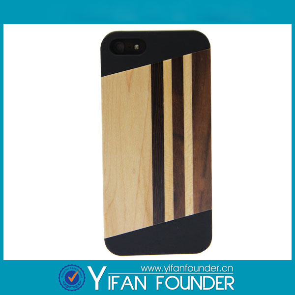 PC wood For iphone5s phone covers China market wholesale for iphone5s phone covers