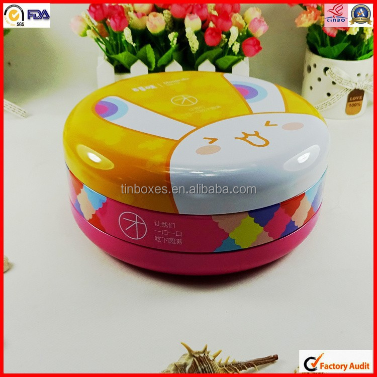 metal packaging tin for butter cookie