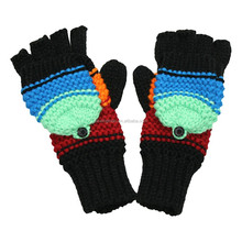 Cold Weather Gloves Colourful Fashion Acrylic Knitted Gloves Mittens