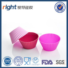 Silicone Baking Cups / Cupcake Liners - 12 Premium Reusable Muffin Molds in Storage Container