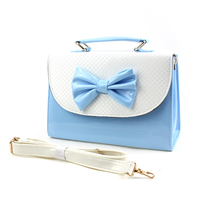 Fashion pu bag no woven shoulder cross body bag china supplier factory
