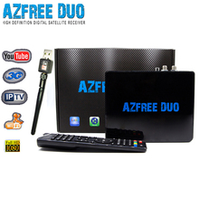 Stocks for 2016 Newest decoder AZFREE DUO With iks free and sks twin tuner with iptv,3G usb wifi for South America