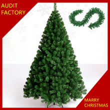 2016 Luxury Green Artificial Christmas Trees PVC Stand Xmas Decor