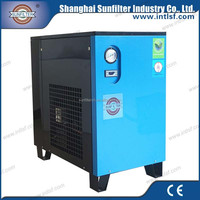 Screw air compressor thermostat valve and refrigerated compressed air dryer