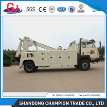 Military quality Howo chassis wrecker tow trucks / recovery trucks with cheap price for sale