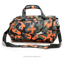 Unisex gender fashion sport fancy military duffle bag, camo gym small travel bag