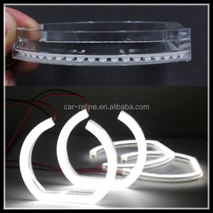 SMD Car Led Headlight crystal Angel Eyes white LED Halo Ring Angel Eyes for BMW F30 F35 Warning Lamp for BMW X3 halo rings light