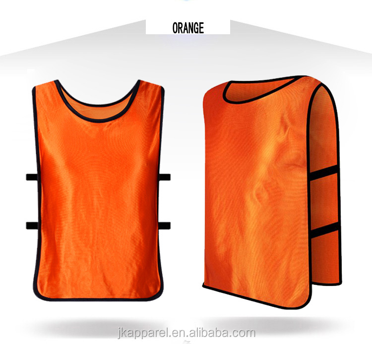 custom cheap soccer training bibs polyester adult football wear