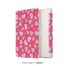 Rock PU Leather Wallet Case For apple ipad 9.7 inch Flower Pattern Flip Case MT-6313
